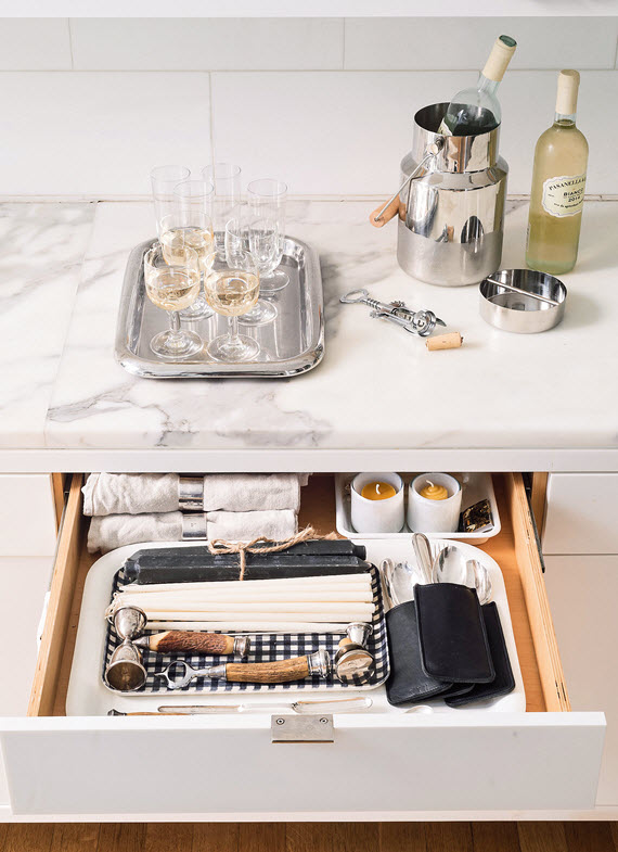diy cocktail party kit // Remodelista: The Organized Home // @simplifiedbee #organizedhome