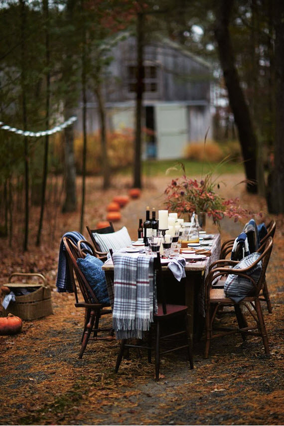 fall outdoor entertaining & dining