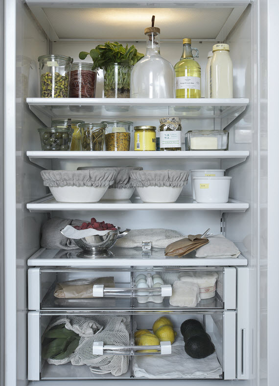 organized fridge // Remodelista: The Organized Home // @simplifiedbee #organizedhome