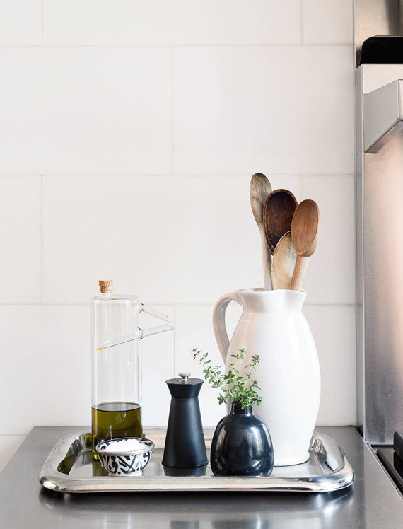 organized kitchen // Remodelista: The Organized Home // @simplifiedbee #trays