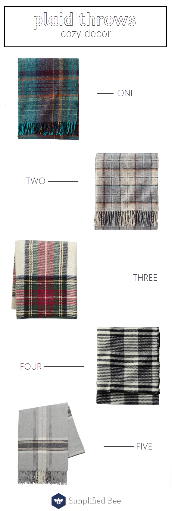 plaid throws // cozy blankets @simplifiedbee #plaid #throws