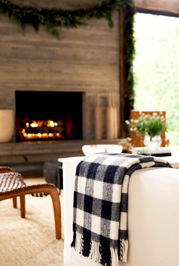 plaid throw // living room // jenni kayne