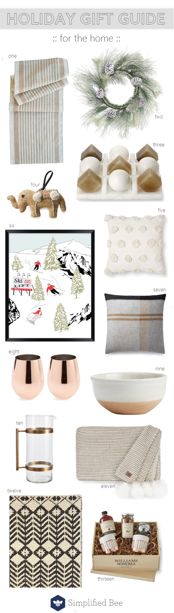 holiday gift guide for home // @simplifiedbee #giftguide #homedecor #holidaygifts