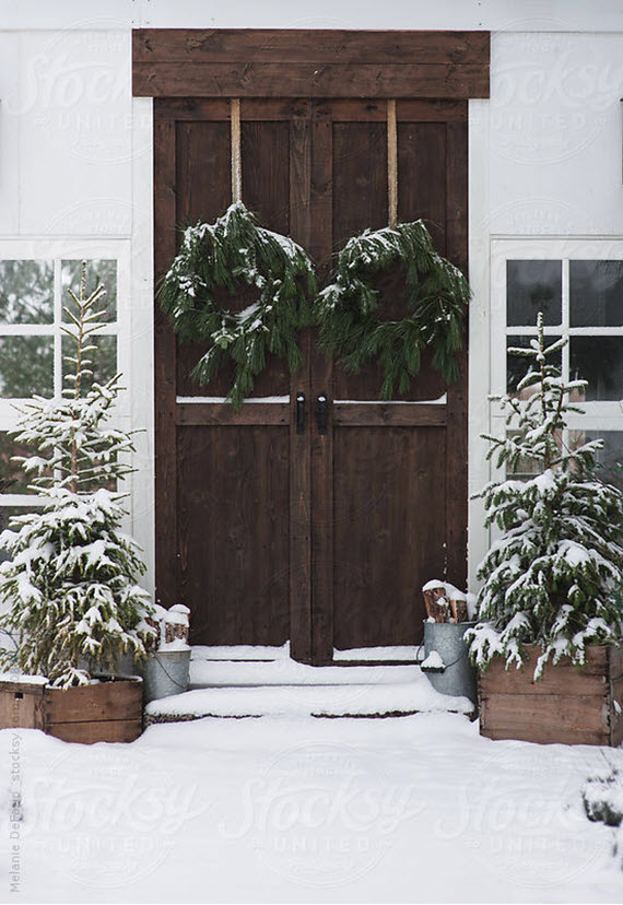 christmas decor // front door