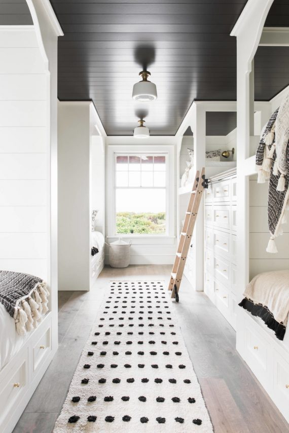 beach house kids bunk bedroom // cortney bishop design