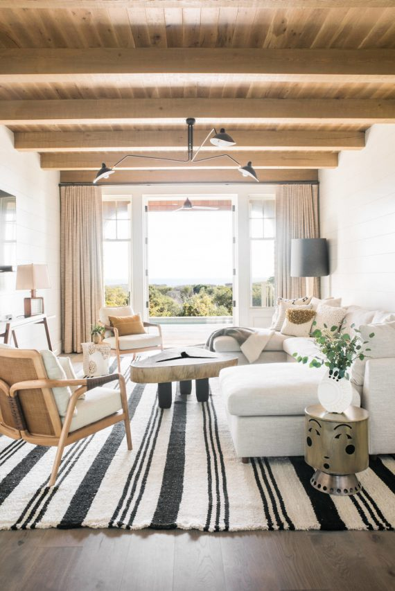 beach house living room // cortney bishop design