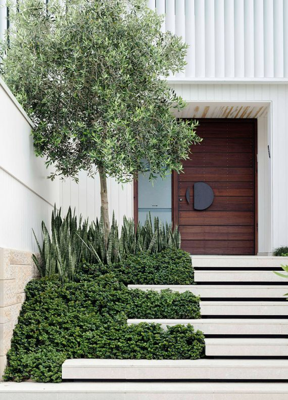 modern front door entry #landscape