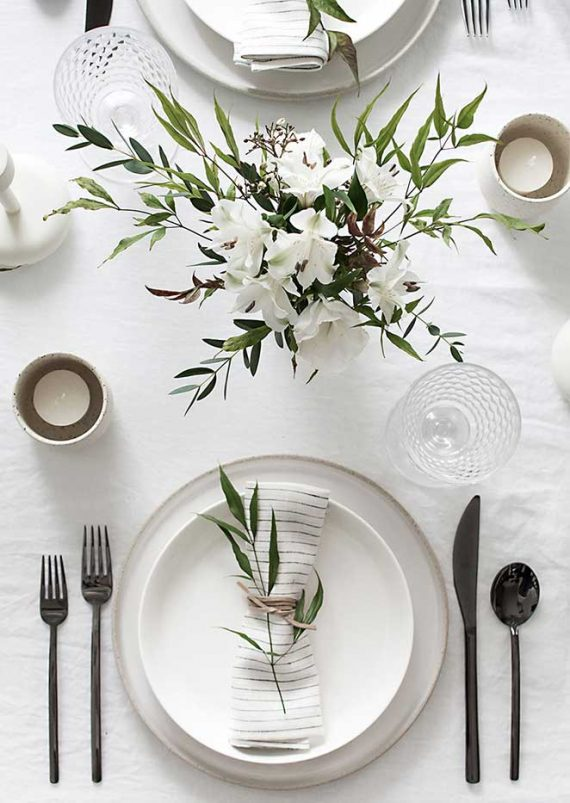 simple table setting #tablescape
