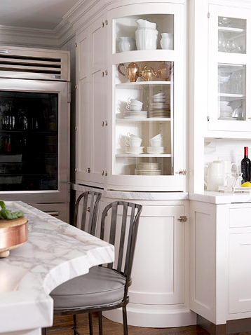 Designer Kitchens: Glass-front Cabinets - Simplified ...