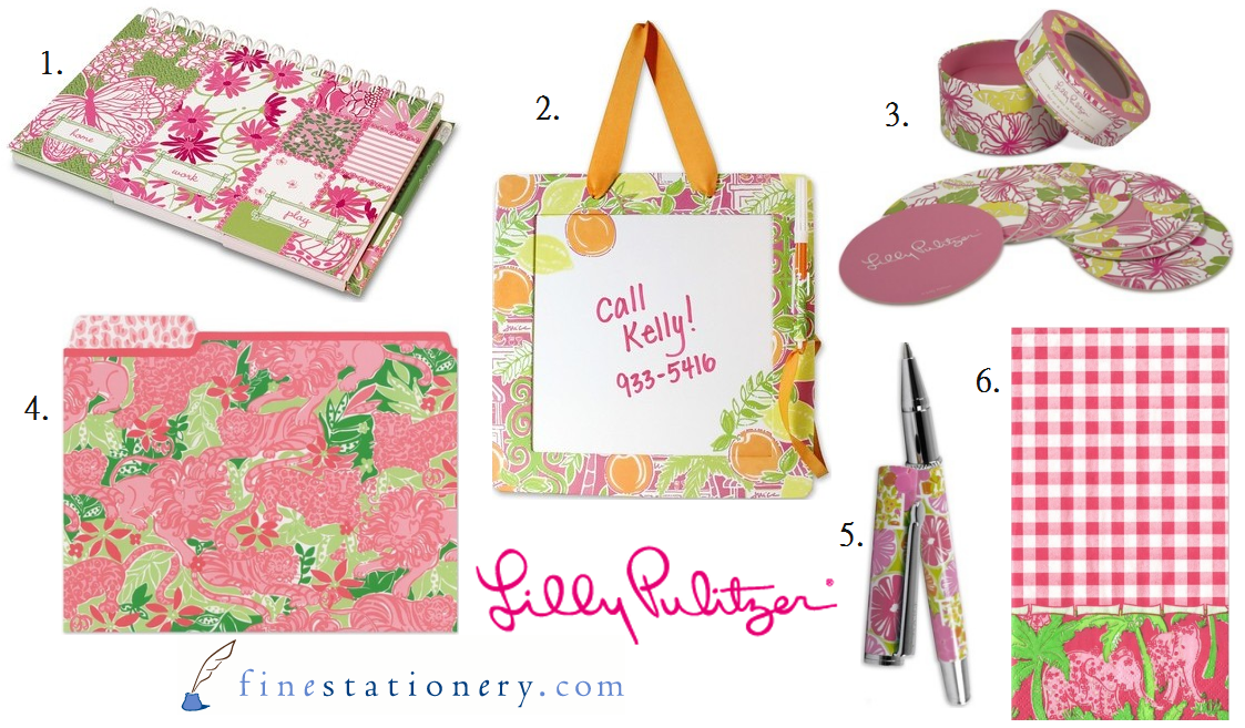 But Did You Know Lilly Also Has A Line Of Stationary And Housewares In Her Palm Beach Inspired Prints Patterns Below Are Some Stylish