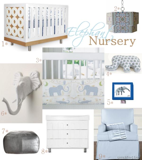 Elephant Theme Baby Nursery Design Inspiration - Simplified BeeSimplified Bee