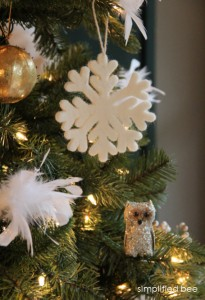 faux christmas tree detail - Simplified Bee