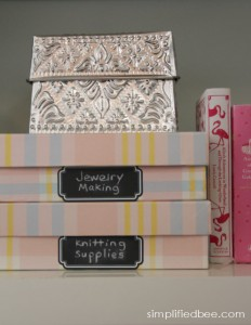 reusable chalkboard labels for boxes - Simplified Bee #labels