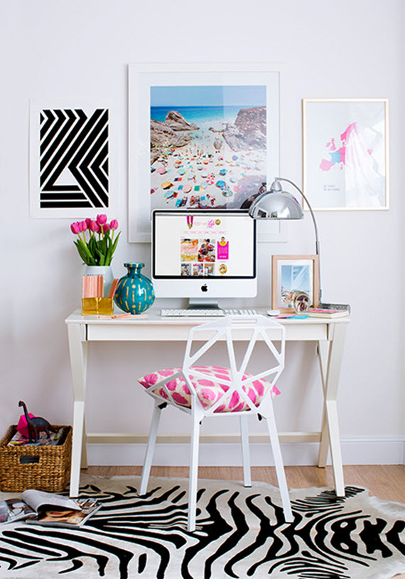 Fresh Bright Home Office Chic Work Es