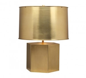 brass table lamp by Mary McDonald for Robert Abbey