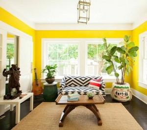 global chic living room // lonny