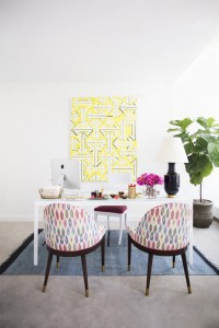 chic home office // Domino Mag