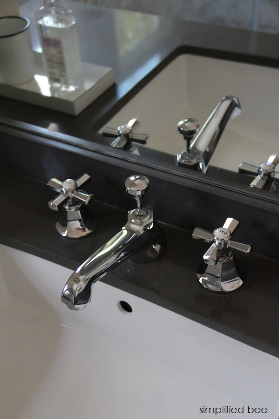 Designer Marble Bathroom With Chrome Faucet Cristin Priest Of Simplified Bee Bathrooms
