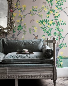 chinoiserie wallpaper // de gournay // simplified bee #chinoiserie #wallpaper