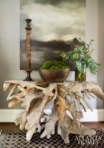 tree root console table // Atlanta Homes & Lifestyle Mag