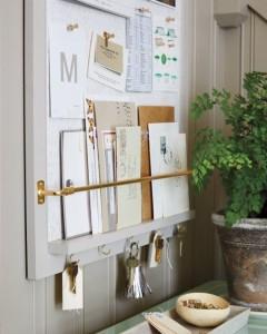 DIY message board // entryway organization #diy