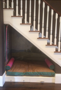 Dog House under the Stairs // San Francisco Decorator Showcase