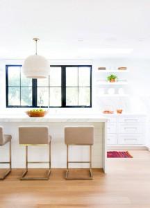 white contemporary kitchen // maggie pierson