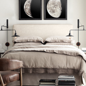 moon photographs // bedroom
