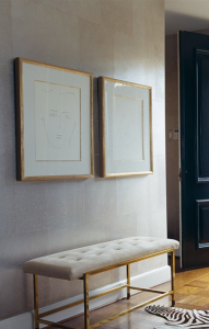 formal entry with bench // via www.simplifiedbee.com