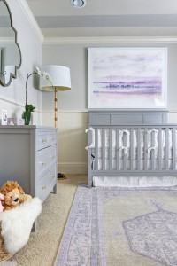 baby girl's lavender nursery // hi sugarplum! // via @simplifiedbee